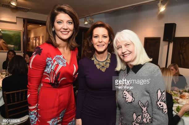 Norah O'Donnell Stephanie Ruhle and Ellen Levine attend the Hearst 100 at Michael's Restaurant on December 11 2017 in New York City