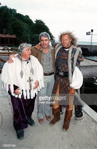 Norbert Braun mit Mircea Krishan und Peter Hick Rügen 1997'Störtebeker Festspiele'