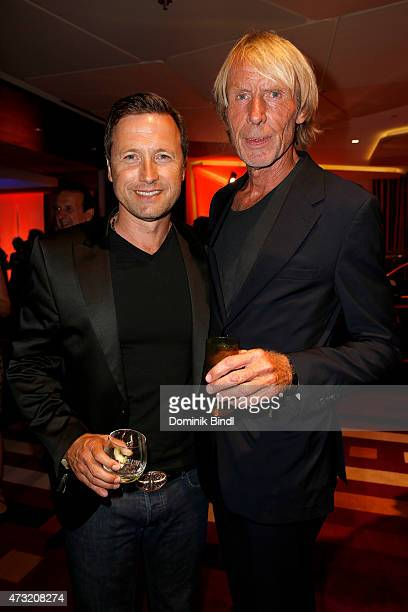Norbert Dobeleit and Carlo Thraenhardt during the Genlemen Style Night at Hotel Vier Jahreszeiten on May 13 2015 in Munich Germany