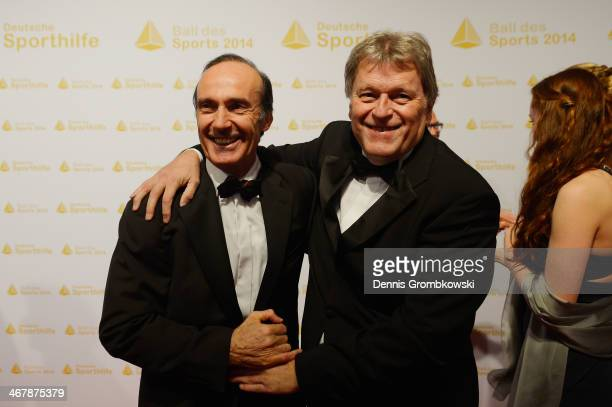 Norbert Haug and Eberhard Gienger attend the Ball des Sports 2014 at RheinMainHalle on February 8 2014 in Wiesbaden Germany