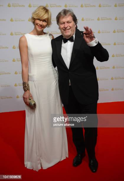Norbert Haug and girlfriend Anne Wis attend the 43rd edition of the Sports Ball in Wiesbaden Germany 02 February 2013 The event took place under the...