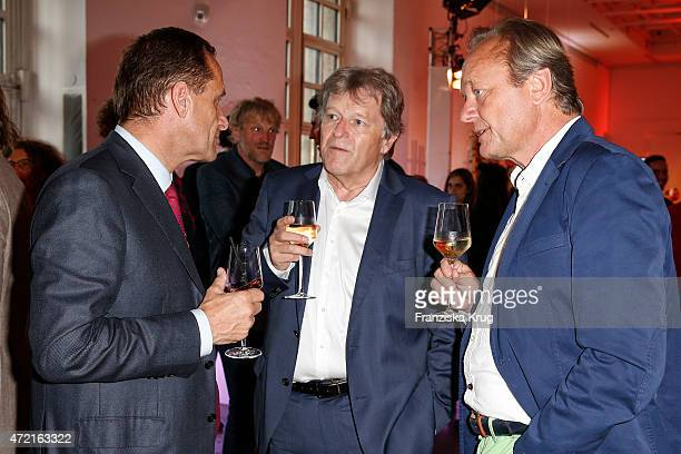 Norbert Haug and Hajo Schneider attend the OTTO Exclusive Sport Cooperation celebrations on May 04 2015 in Munich Germany
