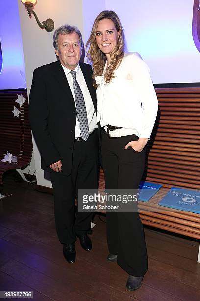Norbert Haug and Julia Scharf during the ARD advent dinner hosted by the program director of the tv station Erstes Deutsches Fernsehen at Hotel...