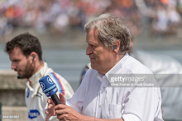 Norbert Haug of Mercedes getting ready for the prerace interview at the Norisring during Day 3 of the 74 International ADAC Norisring Speedweekend on...