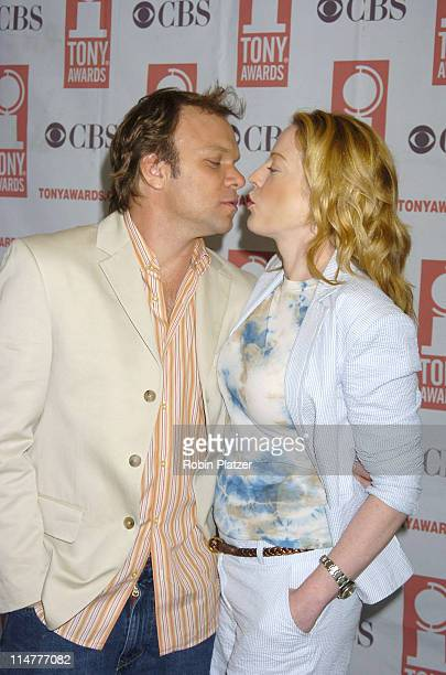 Norbert Leo Butz and Sherie Rene Scott during 59th Annual Tony Awards Nomination Press Conference at Marriott Marquis in New York City New York...