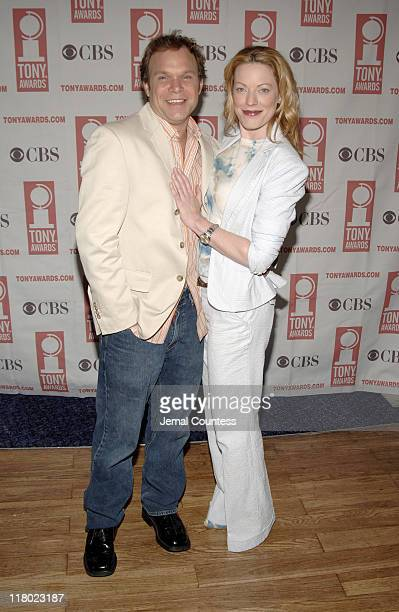 Norbert Leo Butz and Sherie Rene Scott during 59th Annual Tony Awards 'Meet The Nominees' Press Reception at The View at The Marriot Marquis in New...