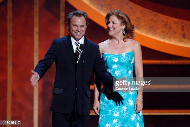 Norbert Leo Butz and Victoria Clark presenters during 60th Annual Tony Awards Show at Radio City Music Hall in New York New York United States
