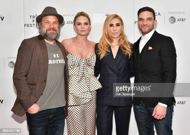 Norbert Leo Butz Jennifer Morrison Zosia Mamet and Evan Jonigkeit attend the screening of 'Fabled' at Tribeca TV Indie Pilots during the 2018 Tribeca...