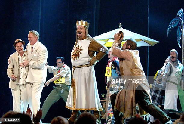 Norbert Leo Butz John Lithgow Tim Curry and Michael McGrath perform during the medley of Nominated Best Musicals