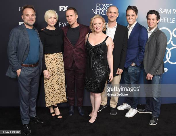Norbert Leo Butz Michelle Williams Sam Rockwell Nicole Fosse Joel Fields Steven Levenson and Thomas Kail arrive at the FYC Event For FX's...