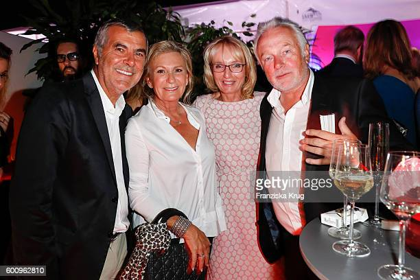 Norbert Mdus Sabine Christiansen Wolfgang Kubicki and Annette MarberthKubicki attend the Bertelsmann Summer Party at Bertelsmann Repraesentanz on...