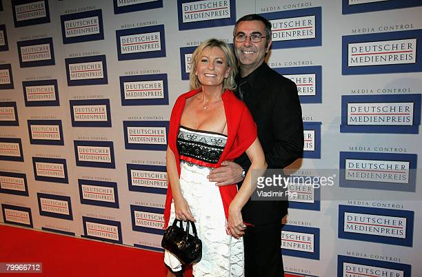 Norbert Medus and his wife Sabine Christiansen arrive at the German Media Awards 2007 ceremony at the Kongresshaus on February 24 2008 in BadenBaden...