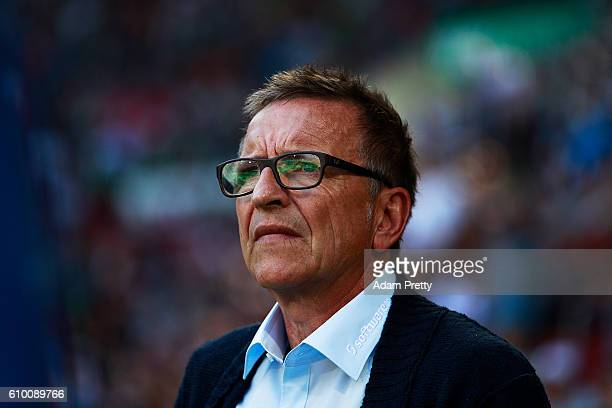 Norbert Meier head coach of SV Darmstadt 98 before the Bundesliga match between FC Augsburg and SV Darmstadt 98 at WWK Arena on September 24 2016 in...