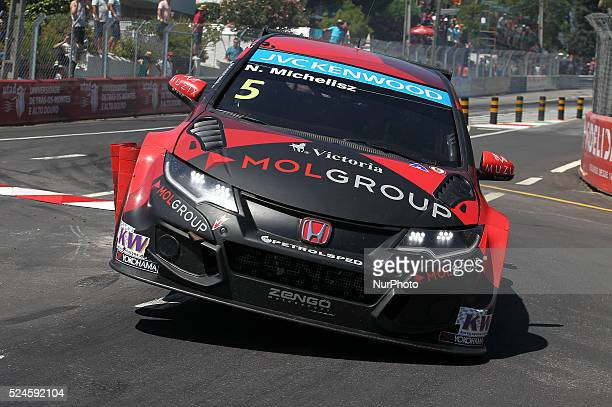 Norbert Michelisz in Honda Civic WTCC of Zengo Motorsport during the FIA WTCC 2015 Qualifying at Vila Real in Portugal on July 11 2015