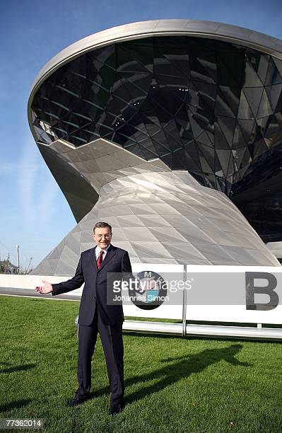 Norbert Reithofer CEO of BMW car producer poses prior to the opening of the BMW World on October 17 2007 in Munich Germany BMW World is a...