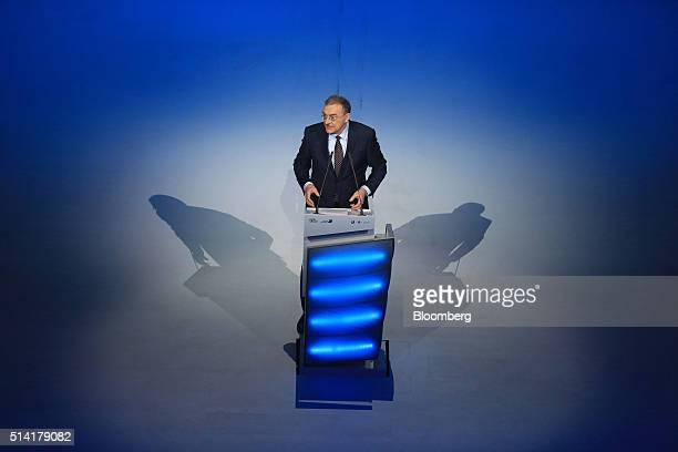 Norbert Reithofer, chairman of Bayerische Motoren Werke AG , speaks on stage as BMW celebrates its 100th anniversary in Munich, Germany, on Monday,...