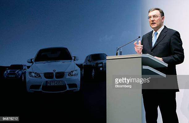 Norbert Reithofer chief executive officer of BMW Group speaks during the presentation of the company's 2007 results at a news conference in Munich...