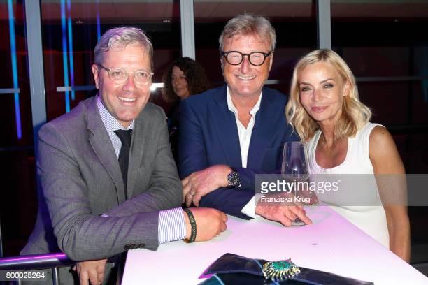 Norbert Roettgen Christiane Gerbroth and Hans Ulrich Joerges attend the 'Bertelsmann Summer Party' at Bertelsmann Repraesentanz on June 22 2017 in...