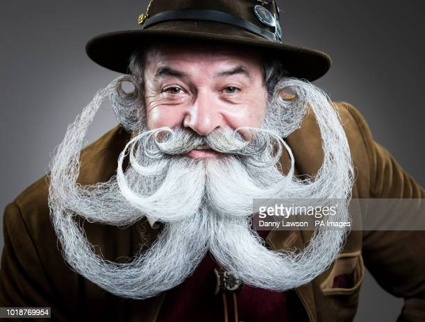 Norbert Topf attends the fourth British Beard and Moustache Championships at the Empress Ballroom, Winter Gardens, Blackpool.