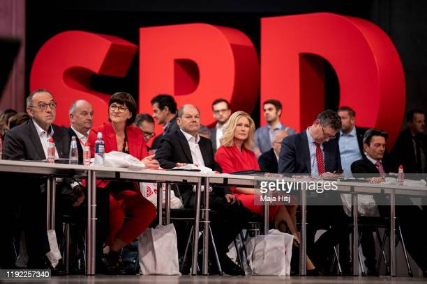 Norbert Walter-Borjans and Saskia Esken, who were recently voted new co-leaders of the German Social Democrats , Olaf Scholz and Manuela Schwesig...