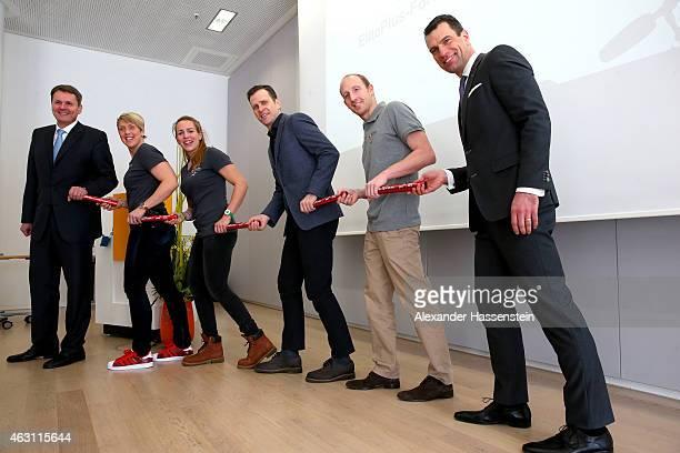 Norbert Winkeljohann CEO PricewaterhouseCoopers Germany Christina Obergfoell Lisa Schmidla Oliver Bierhoff manager of the German national football...