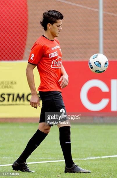 Norberto Araujo of Ecuador during a training session for the 2011 Copa America on June 23 2011 in Quito Ecuador Argentina will host the tournament...