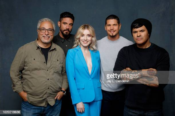 Norberto Barba, Clayton Cardenas, Sarah Bolger, JD Pardo and Elgin James from 'Mayans M.C.' are photographed for Los Angeles Times on July 21, 2018...