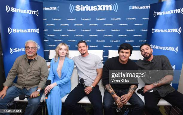 Norberto Barba Sarah Bolger J D Pardo Elgin James and Clayton Cardenas attend SiriusXM's Entertainment Weekly Radio Broadcasts Live From Comic Con in...