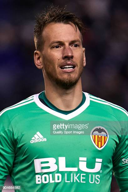 Norberto Murara 'Neto' of Valencia CF looks on prior to the La Liga match between Deportivo La Coruna and Valencia CF at Abanca Riazor Stadium on...