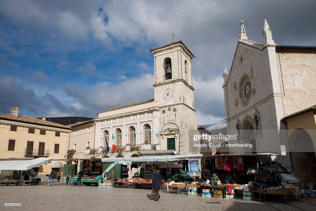 Norcia, Umbria, Italy, Europe : Stock Photo