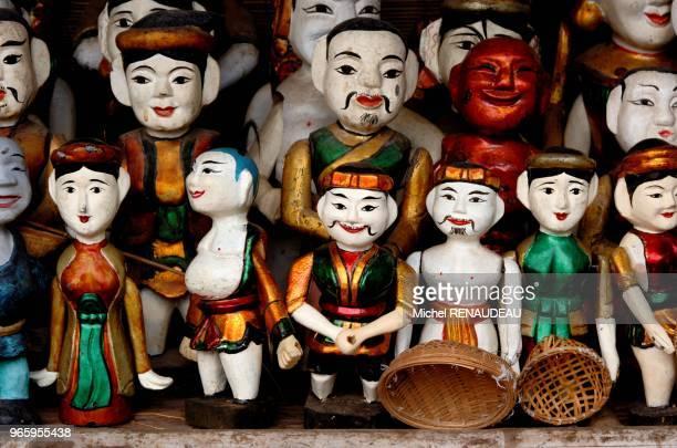 Nord Vietnam Hanoi la capitale du Vietnam à conservé un charme un suranné ici des marionnettes utilisées pour un spectacle aquatique Nord Vietnam...