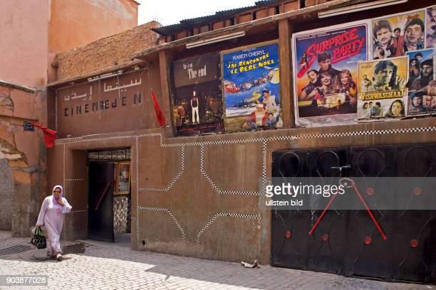 Nordafrika MAR Marokko Marrakesch Cinema Eden Es ist das aelteste Kino von Marokko und wurde 1926 eröffnet und soll jetzt renoviert werden um...