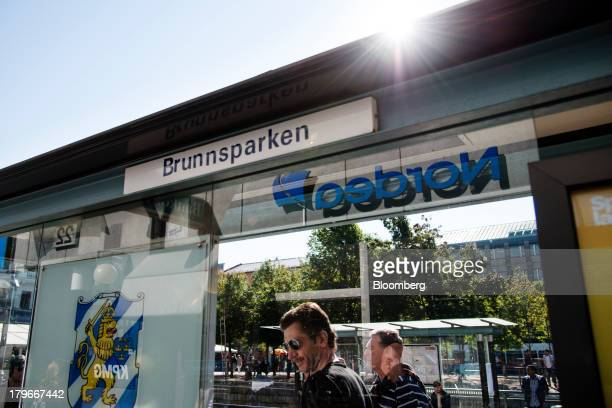 A Nordea Bank AB logo is reflected in the glass at a bus stop in Gothenburg Sweden on Friday Sept 6 2013 Scandinavia's biggest banks have failed to...