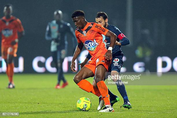Nordi Mukiele of Laval during the Ligue 2 match between Stade Lavallois and Le Havre AC on November 4 2016 in Laval France