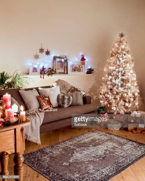 Nordic Christmas with a White Christmas Tree