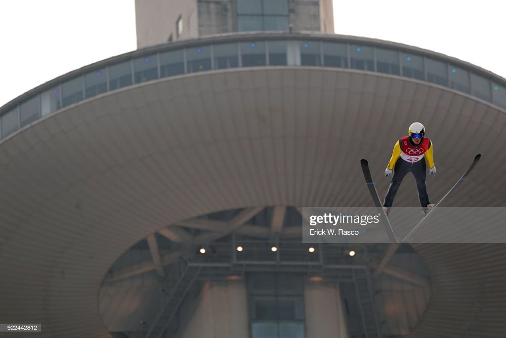 Finland Eero Hirvonen (42) in action during Individual Gundersen NH/10km Ski Jumping at Alpensia Ski Jumping Centre. PyeongChang-Gun, South Korea 2/14/2018 Erick W. Rasco X161680 TK1 )