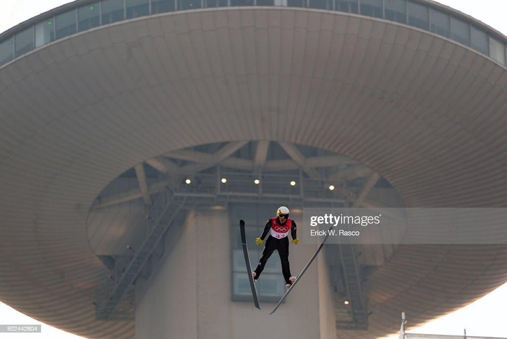 France Francois Braud (33) in action during Individual Gundersen NH/10km Ski Jumping at Alpensia Ski Jumping Centre. PyeongChang-Gun, South Korea 2/14/2018 Erick W. Rasco X161680 TK1 )