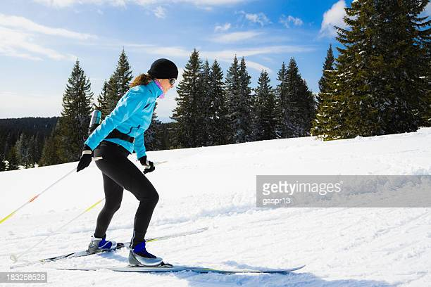 nordic - cross country skiing - langlaufen stockfoto's en -beelden