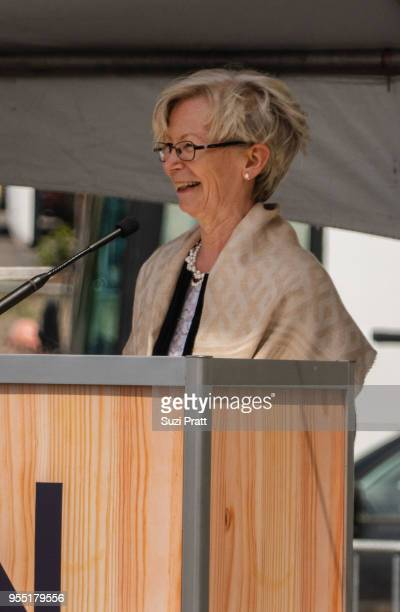 Nordic Museum Board President Irma Goertzen speaks at the Nordic Museum on May 5 2018 in Seattle Washington