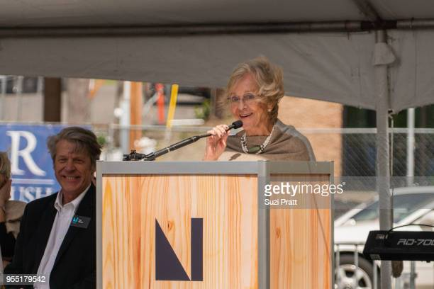 Nordic Museum Board President Irma Goertzen speaks athte Nordic Museum on May 5 2018 in Seattle Washington