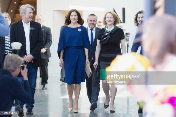 Nordic Museum Executive Director Eric Nelson Her Royal Highness Crown Princess Mary of Denmark Denmark Foreign Minister Anders Samuelsen and Seattle...