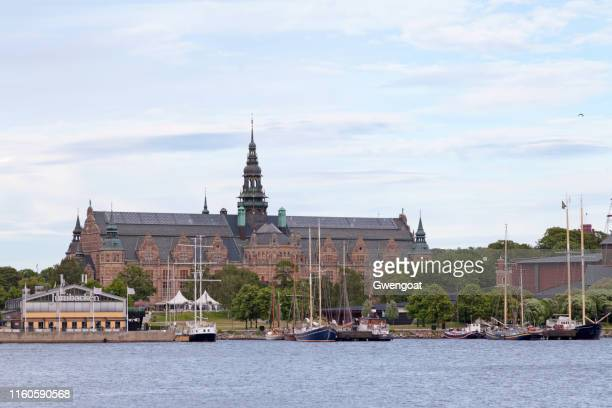 nordic museums in stockholm - gwengoat stock pictures, royalty-free photos & images