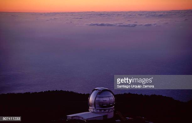 CONTENT] Nordic Optical Telescope in Roque de los Muchachos Observatory at sunset La Palma Canary Islands Spain