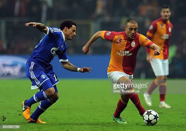 Nordin Amrabat of Galatasaray and Jermaine Jones of Schalke 04