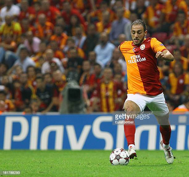 Nordin Amrabat of Galatasaray AS in action during the UEFA Champions League group stage match between Real Madrid CF and Galatasaray AS held on...