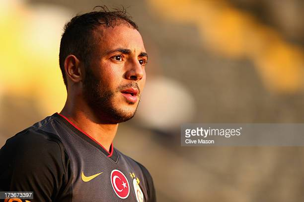 Nordin Amrabat of Galatasaray in action during the pre season friendly match between Notts County and Galatasaray at Meadow Lane on July 16 2013 in...