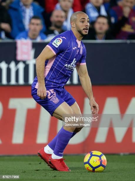 Nordin Amrabat of Leganes during the Spanish Primera Division match between Leganes v FC Barcelona at the Estadio Municipal de Butarque on November...