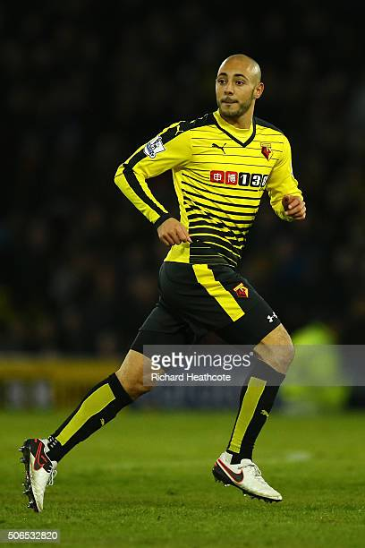 Nordin Amrabat of Watford during the Barclays Premier League match between Watford and Newcastle United at Vicarage Road on 23 January 2016 in...
