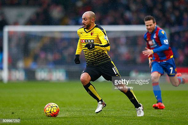 Nordin Amrabat of Watford in action during the Barclays Premier League match between Crystal Palace and Watford at Selhurst Park on February 13 2016...