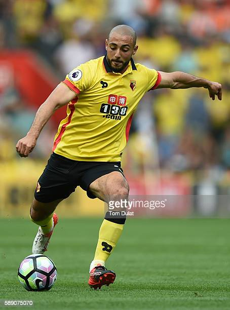 Nordin Amrabat of Watford in action during the Premier League match between Southampton and Watford at St Mary's Stadium on August 13 2016 in...